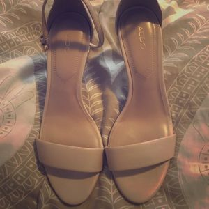 Nude Aldo sandals. Gently used (worn 2-3 times)